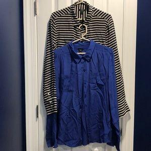 2 J crew size XL silk button down shirts